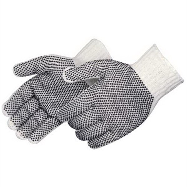 Cotton / polyester gloves with PVC 2 sided PVC dots