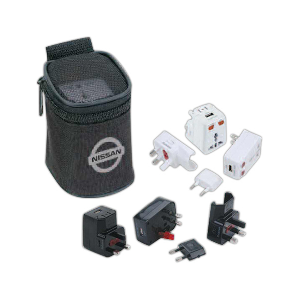 Universal Travel Adaptor with USB Power Port Kit