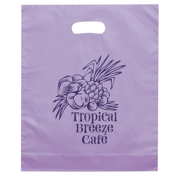 Orchid Die Cut Plastic Bag