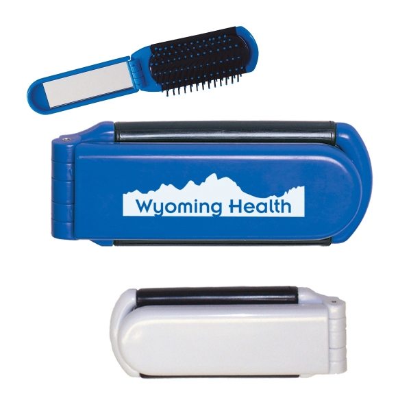 Kwik-Fix Folding Brush With Mirror