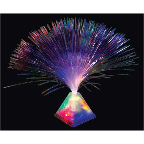 Fiber optic pyramid centerpiece light