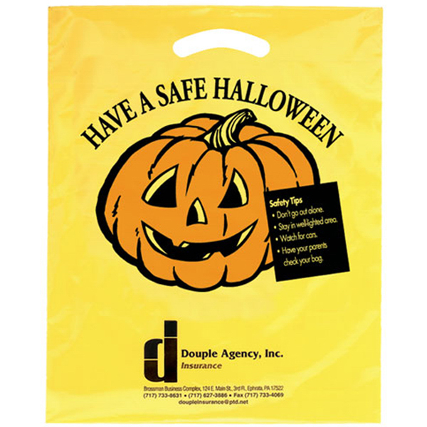 Halloween Yellow Die Cut Bag