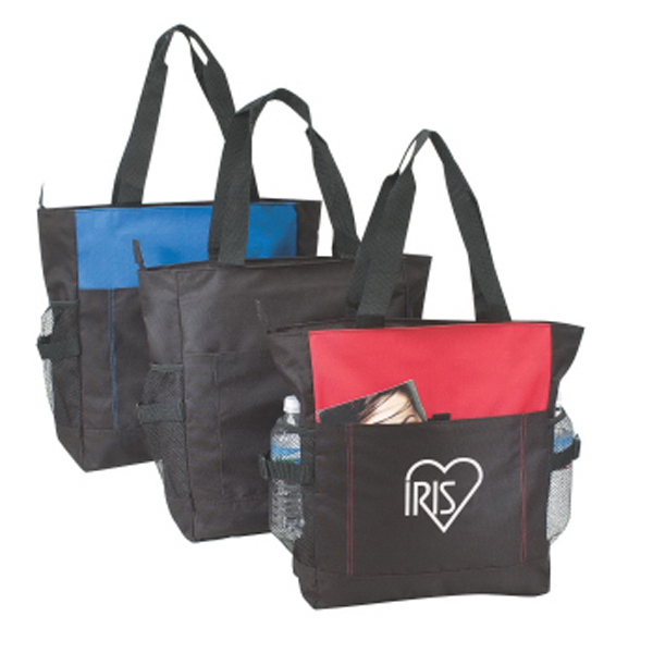 Polyester Zipper Tote