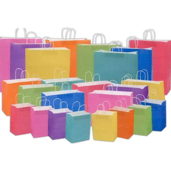 Blank Bags - Matte Tint on White Kraft Shopping Ba