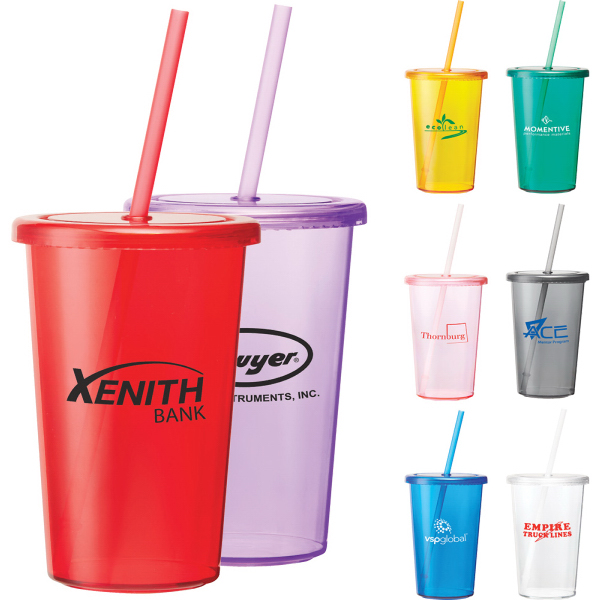 Sizzle 16-oz Tumbler with Straw