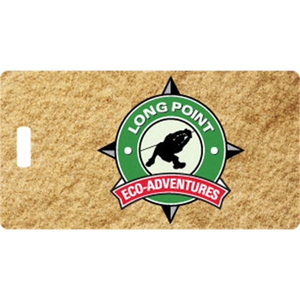 Rectangle Plastic Bag Tag w/full color imprint