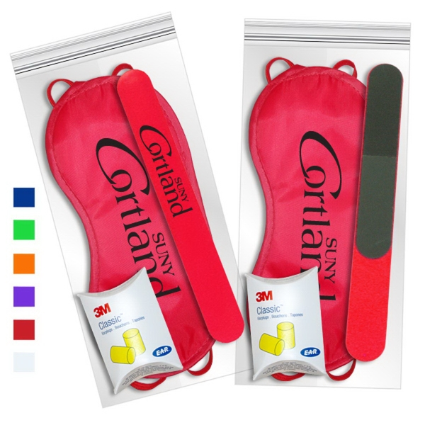 Sleep Mask Getaway Kit In Red with Nail File