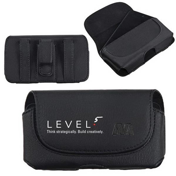 Premium Horizontal Cellphone Pouch with Belt Loops & Clip