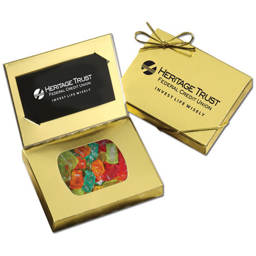 Gummy Bears  in a Stand Up Gift Box with Bow
