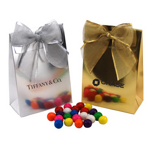 Gumballs  in a Stand Up Gift Box with Bow