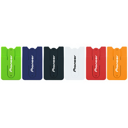 Silicone Smartphone Wallet With Stand & Cord Organizer