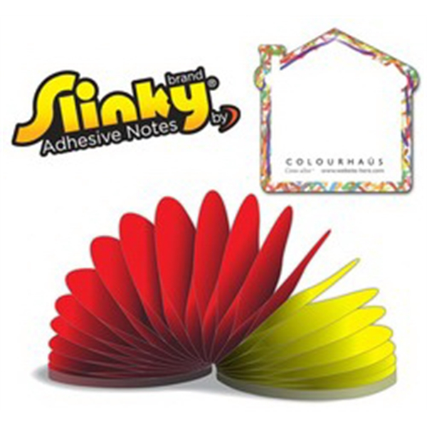 Slinky(R) Adhesive Notes - House - 100 Sheets