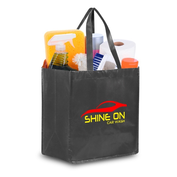 """Reusable Pearl Finish Grocery Bag 12""""w x 14""""h x 8.5""""g"""