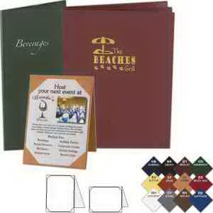 printed majestic soft touch table tent menu cover usimprints