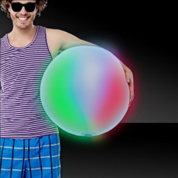 "Multi-Color 30"" LED Inflatable Beach Ball"