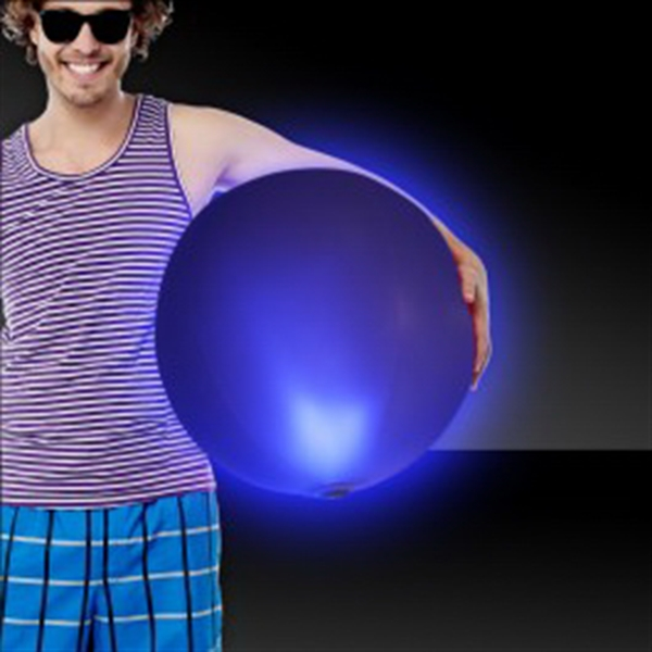 "Blue 30"" LED Inflatable Beach Ball"
