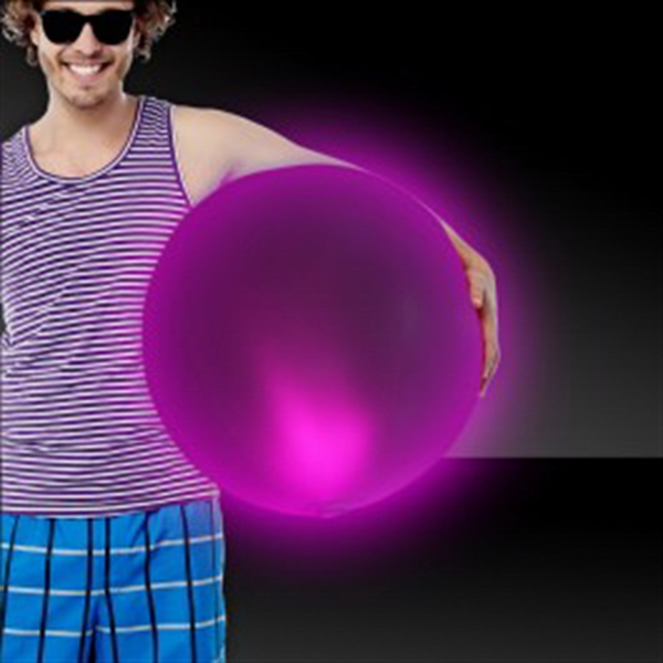 "Pink 30"" LED Inflatable Beach Ball"