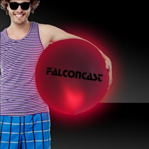 "Red 30"" LED Inflatable Beach Ball"