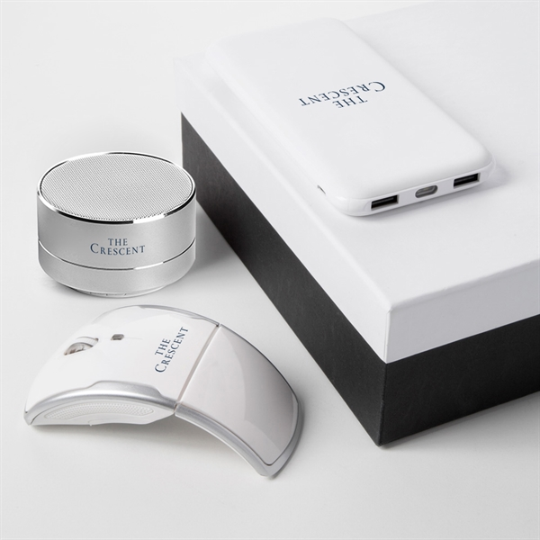 Power Bank w/ wireless mouse & Speaker gift sets