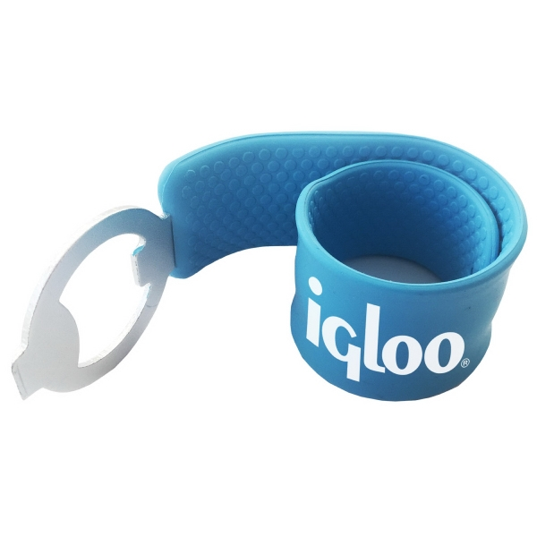 Slap Wristband with Bottle Opener