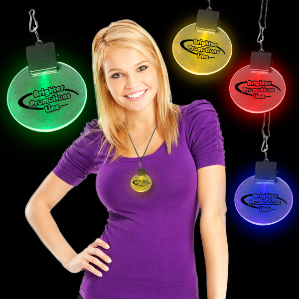 "2 1/2"" Light-Up LED Glow Medallion"