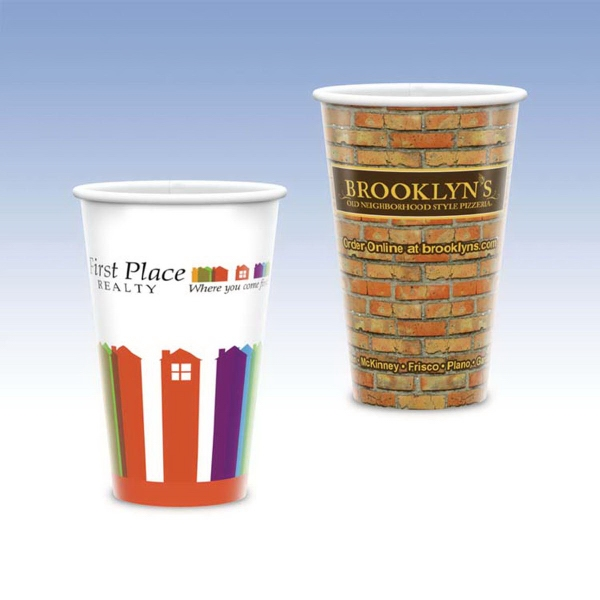 16oz Tall-Heavy Duty Paper Hot Cup-Hi-Definition Full Color