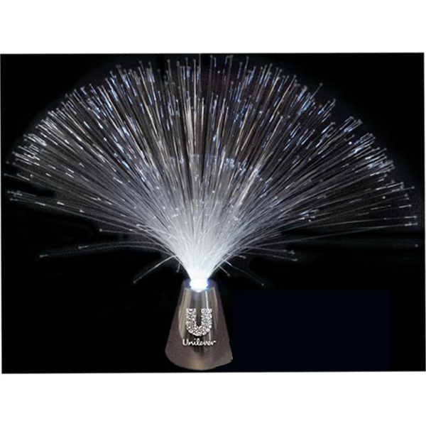 Fiber optic white LED centerpiece