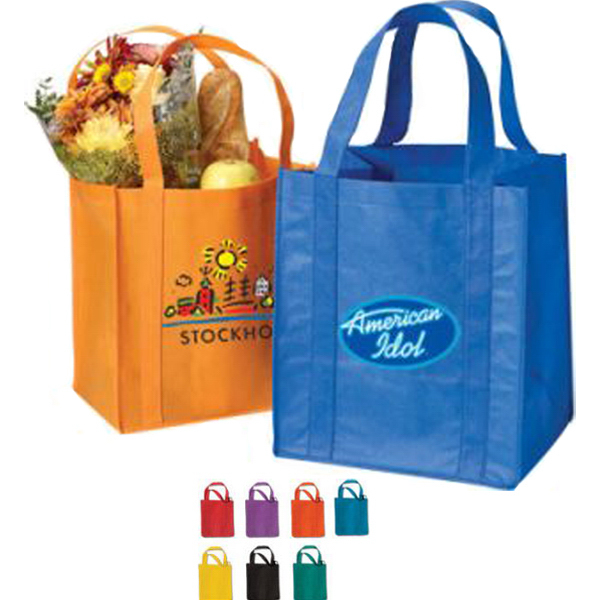 "Non Woven Tote Bag 80 GSM with 20"" Straps 12 x 13 x 8"