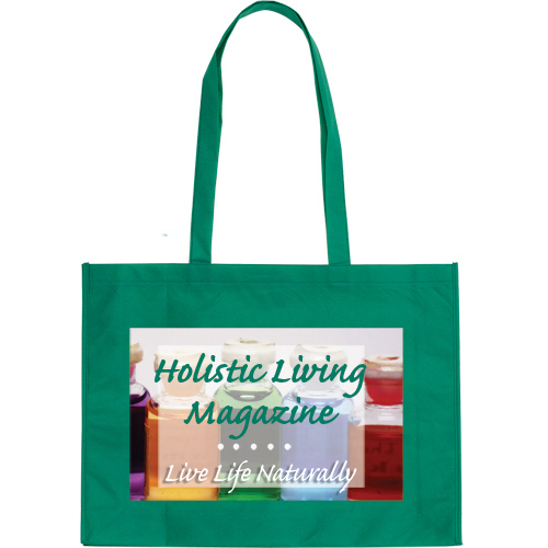 "Large Non Woven Tote Bag With 15"" Straps- Full color"