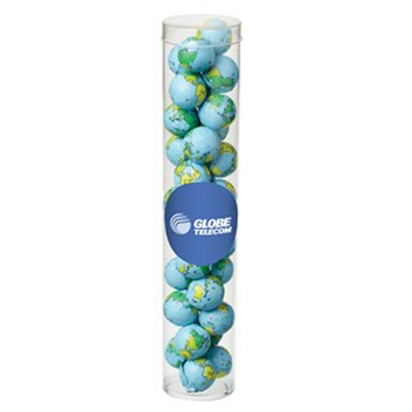 Large Tube with Clear Cap / Chocolate Earth Balls
