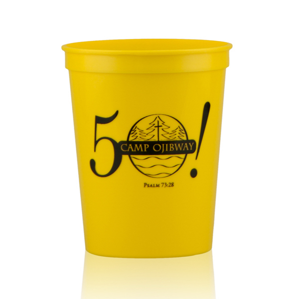 16oz Stadium Cups Yellow