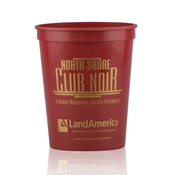 16oz Stadium Cups Burgundy