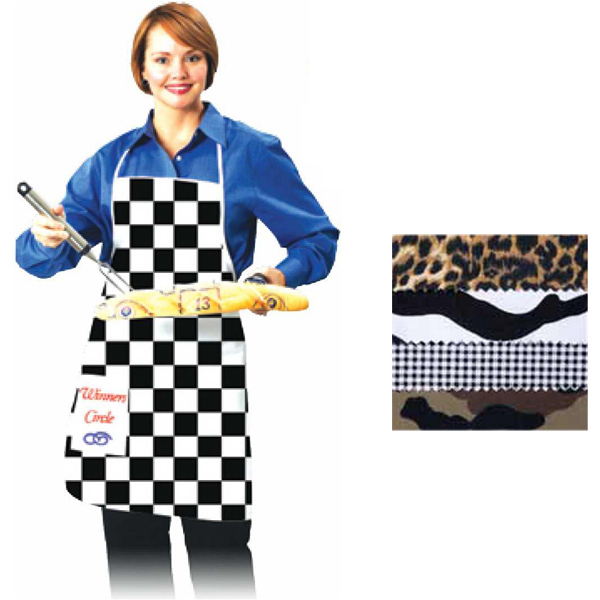 Checkered Flag Apron with Pocket
