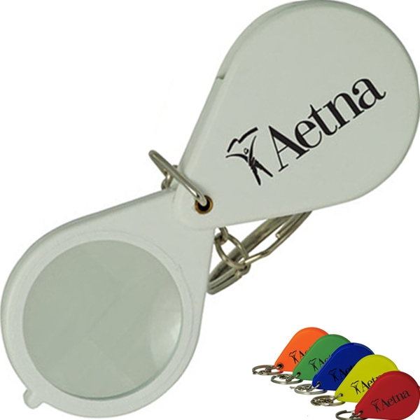 Assorted Colored Folding Keychain Magnifier