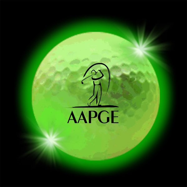Green Lumi Ball LED Light Up Glow Golf Balls