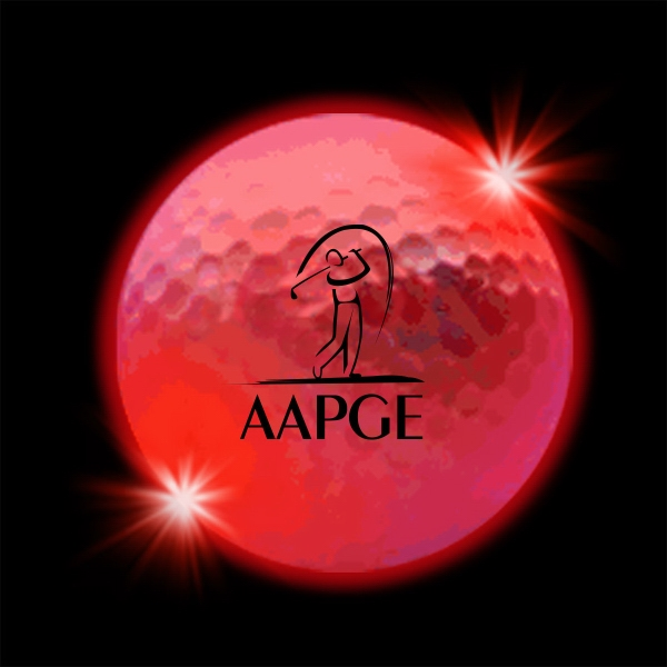Red  LED Light Up Glow  Golf Balls