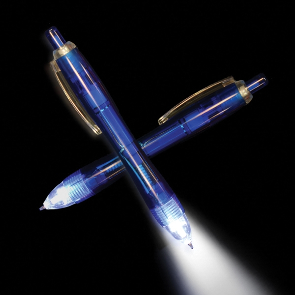 Blue Ultimate Lighted LED Glow Pen