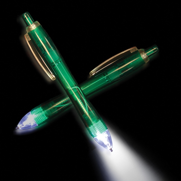 Green Ultimate Lighted LED Glow Pen