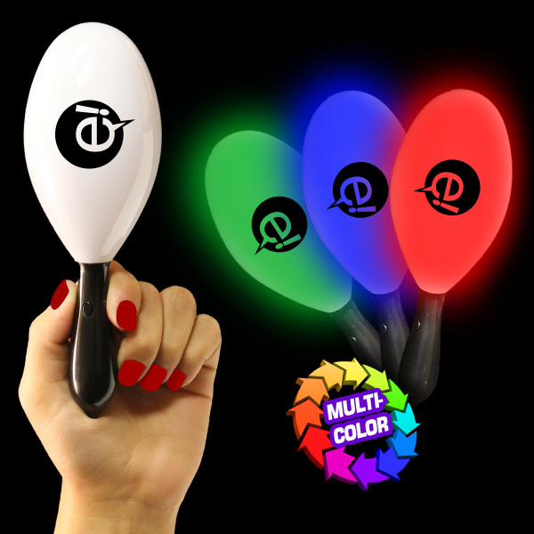 "7 1/2"" Light-Up Glow Maraca"