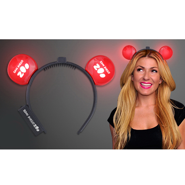 Custom Red Light Up LED Mouse Ears - 5 Day Production