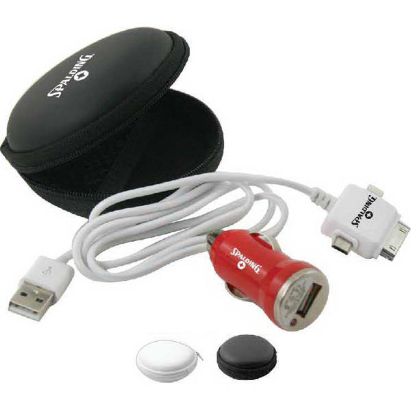 Zippered case with USB cord & USB car power adapter