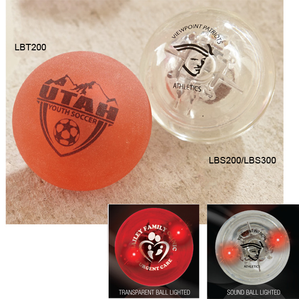 "Sounder - 2 1/4"" Transparent Sound Ball with Red LEDs"